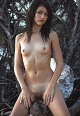 petite and sexy with sweat and lust is this dark haired babe dressed in only her beauty : Lana G